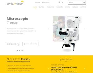 New website of DentoAvance created with Distineo.