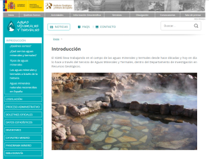 New wbsite for IGME's Mineral and Thermal Waters Department.